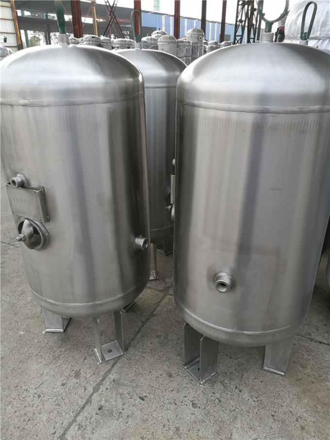 Horizontal Pressure Vessel Design Gas Storage Tanks , Stainless Steel Pressure Tank