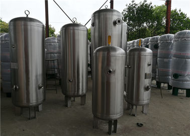 CE Certificate Industrial Screw Compressed Air Receiver Tanks Stainless Steel Material